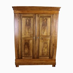 Biedermeier Walnut & Cherry Hall Cabinet or Wardrobe, 1850s