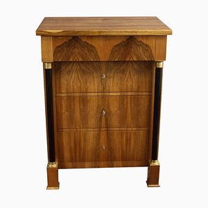 Antique Biedermeier Style Walnut Commode
