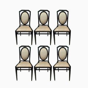 Jugendstil Stühle, 1910er, 6er Set