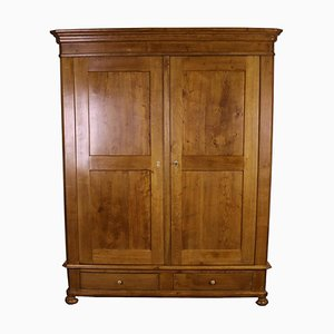 Biedermeier Oak Wardrobe, 1870s