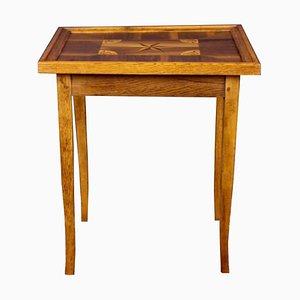 Table de Jeu Antique avec Travaux de Marqueterie