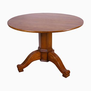 Antique Biedermeier Round Dining Table