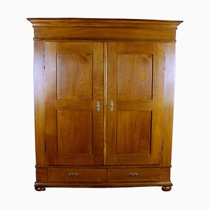 Biedermeier Oak Wardrobe, 1840s