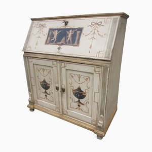 Antique Hand-painted Ornaments Secretaire or Bureau