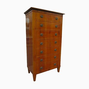 Antique Biedermeier Style Cherry Chiffonier or Chest of Drawers