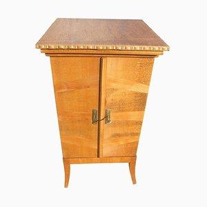 Beech Gramophone Vinyl Cabinet, 1920s