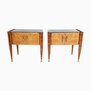 Mid-Century Italian Wooden Nightstands, 1950s, Set of 2