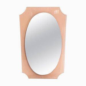 Mid-Century Italian Oval Lucite Wall Mirror, 1960s