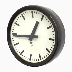 Small Czech Bakelite Clock from Pragotron, 1950s
