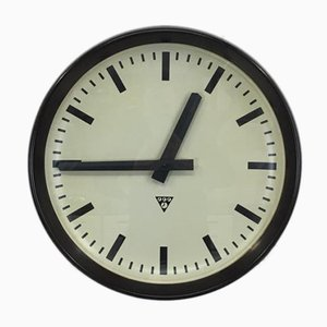 Large Czech Bakelite Clock from Pragotron, 1950s