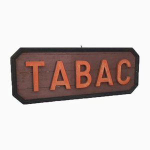French Wooden Tabac Sign, 1940s