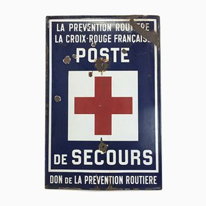 Vintage French Enamel Post Exit Sign, 1950s