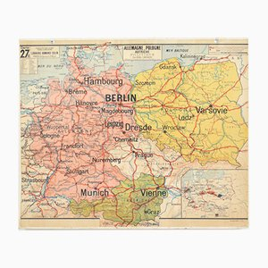 Vintage German Vidal Lablache Map, 1960s