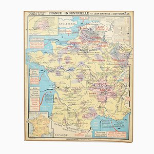 French Hatier Map, 1960s