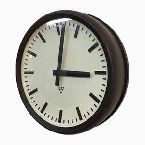 Vintage Czech Factory Bakelite Clock from Pragotron