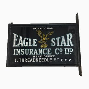 Eagle Star Glass Sign, 1940s