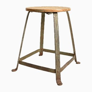 French Industrial Factory Stool, 1950s