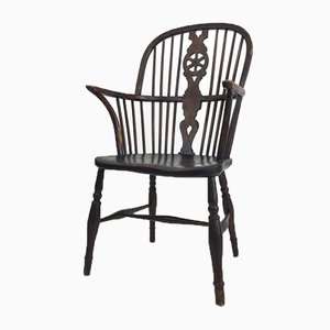 Antique Windsor Spindle Armchair, 1840s