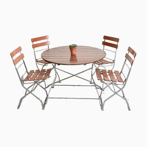 Vintage German Patio Table and Chairs Set
