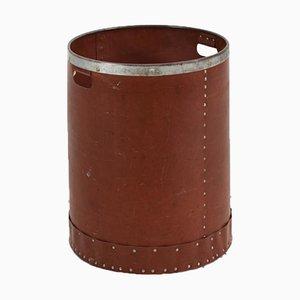 Vintage Vulcanised Fibreboard Laundry Bin Cylinder, 1950s