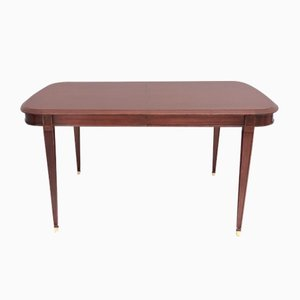 Italian Mahogany Extendable Dining Table from Provasi, 1980s