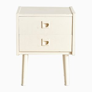 Vintage Danish White Nightstand, 1960s
