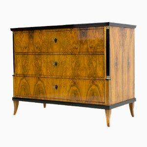 Antique Biedermeier Walnut Veneer Dresser