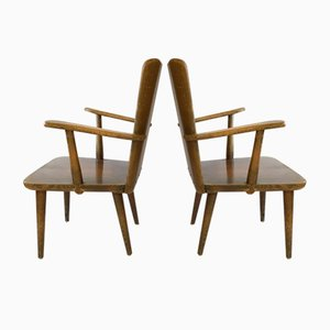 Swedish Pine Armchairs by Göran Malmvall for Svensk Fur, 1950s, Set of 2