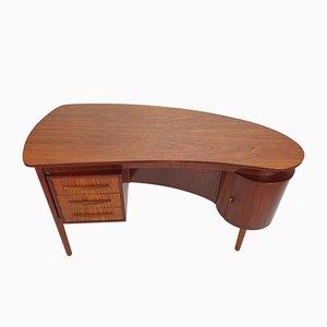 Danish Teak Desk by Gunnar Nielsen Tibergaard for Tibergaard, 1960s