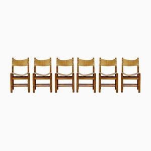 Mid-Century Beistellstühle von Maison Regain, 6er Set