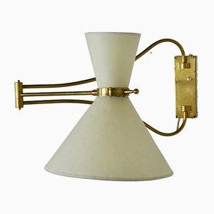 Französische Mid-Century Wandlampe