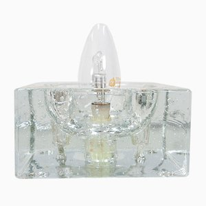 Crystal Cubic Wall or Table Lamps from Muller & Zimmer, 1964, Set of 2