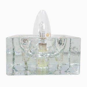 Würfelförmige Wand- oder Tischlampen aus Kristallglas von Muller & Zimmer, 1964, 2er Set