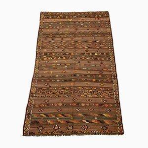 Large Vintage Turkish Wool Kilim Rug