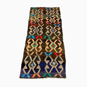 Großer türkischer Vintage Kelim Wollteppich