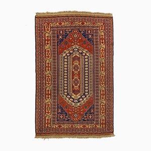 Großer afghanischer Soumak Kilim Teppich in Rot, Blau & Beige