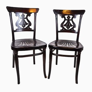 Antique Lounge Chairs by Michael Thonet for Gebrüder Thonet Vienna GmbH, Set of 2