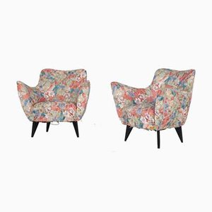 Perla Armchairs by Giulia Veronesi for I.S.A, 1950s, Set of 2