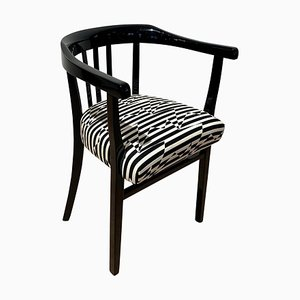 German Bauhaus Black Piano Lacquer Beech Armchair by Eley Kishimoto, 1930s