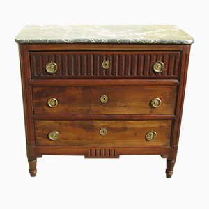 Antique Walnut & Elm Chest of Drawers, 1830s