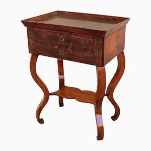 Antique Charles X Walnut Side Table