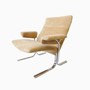 Niedriger DS2030 Alcantara Stuhl von Hans Eichenberger für de Sede, 1970er