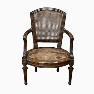 Antique Louis XVI Walnut Armchair