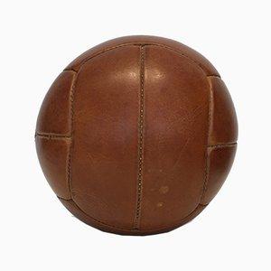 Vintage 2 kg Medizinball aus Leder