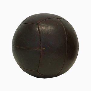 Vintage 3 kg Medizinball aus Leder