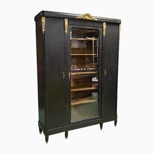 Vintage Bücherregal aus Eiche & Bronze
