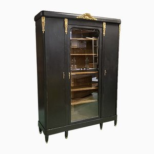 Vintage Oak & Bronze Bookcase