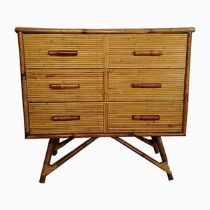 Vintage French Bamboo Dresser, 1960s