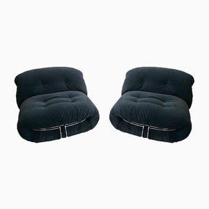 Italienische Vintage Soriana Stühle von Tobia & Afra Scarpa für Cassina, 2er Set