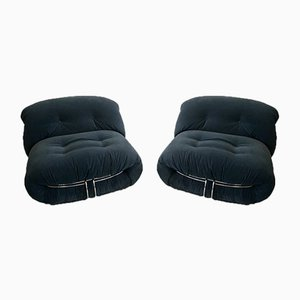 Vintage Italian Soriana Chairs by Tobia & Afra Scarpa for Cassina, Set of 2